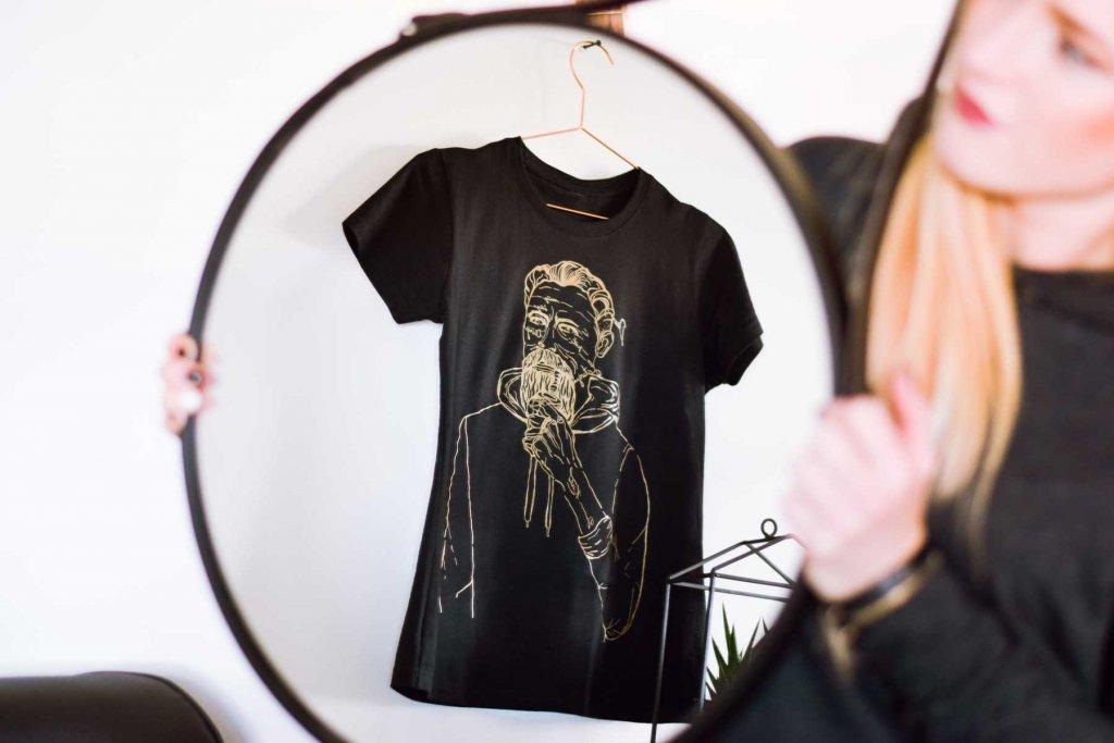 baumaņu kārlis dizaina t-krekls krekls