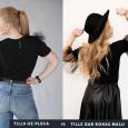 izšūts sieviešu t-krekls ar tilla spārniem