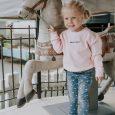 bērnu džemperis ar izšūtu dizainu